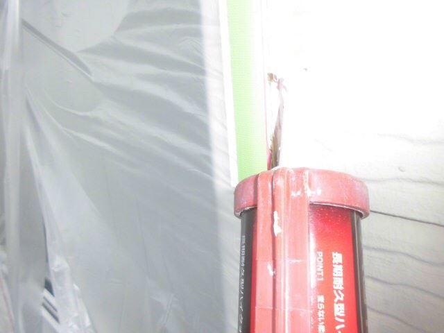 恵那市大井町で外壁塗装、窓廻りコーキング