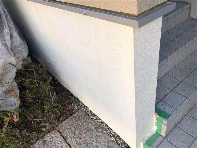 ブロック塀の2回目塗装です