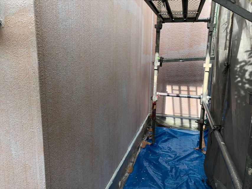 外壁の下塗り2回目完了です