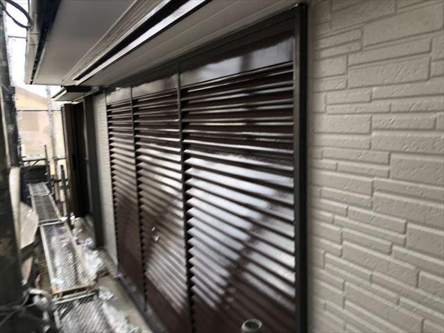 雨戸2回目塗装、完了です