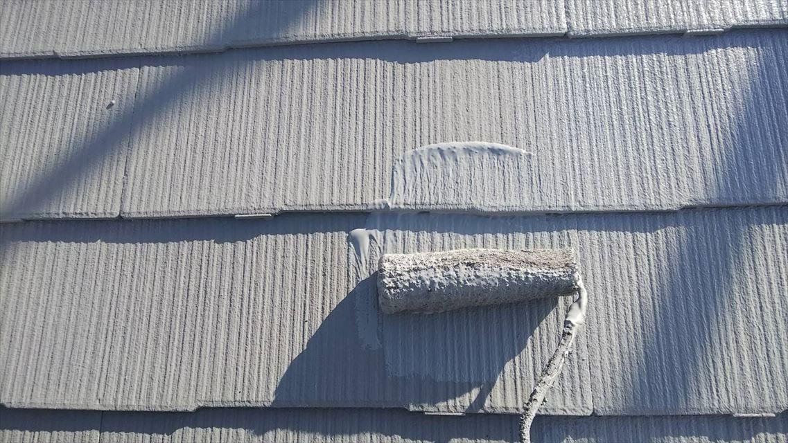 土岐市下石町屋根上塗り