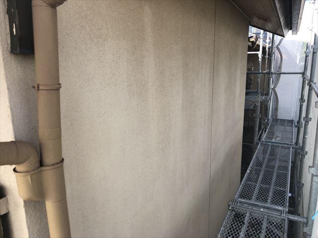 中津川市、外壁の洗浄
