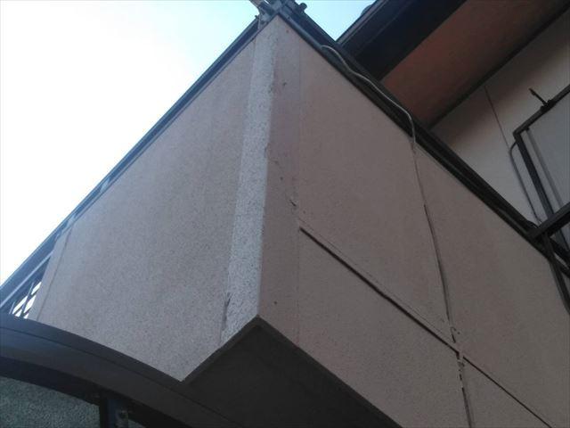 ベランダ外壁のシーリング材の劣化
