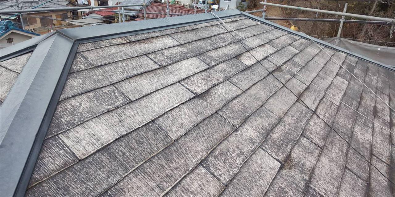 多治見市スレート屋根バイオ洗浄