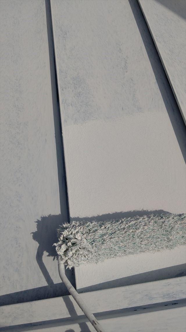 瑞浪市で屋根外壁塗装、屋根下塗り2回目