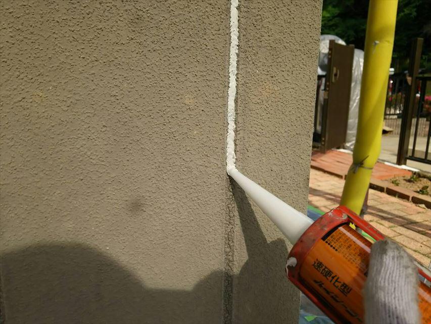 土岐市外壁ヒビコーキング