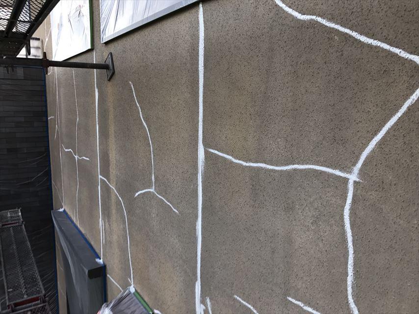 土岐市モルタル壁コーキング