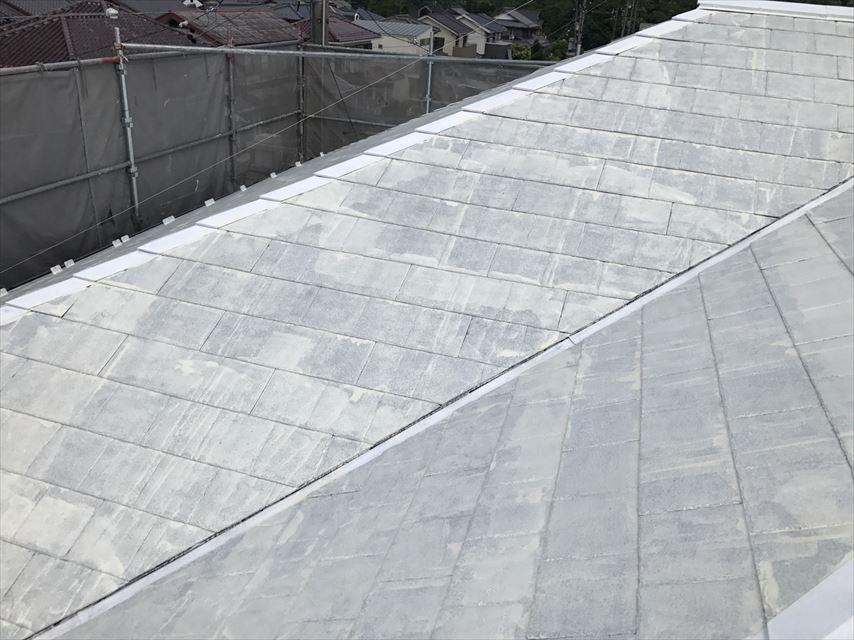 土岐市屋根の下塗り比較