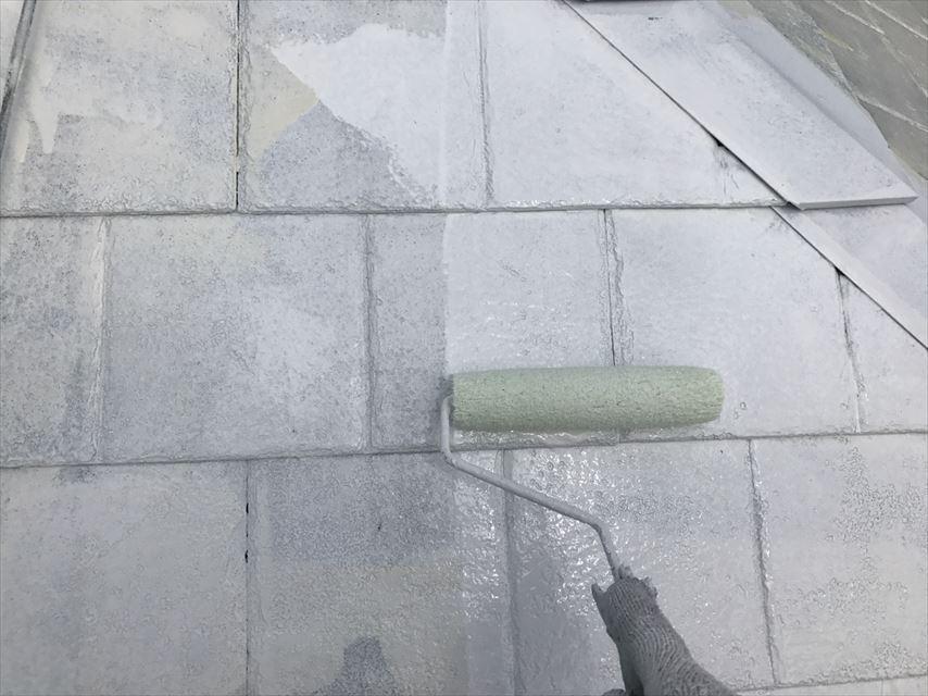 土岐市屋根下塗り2回目