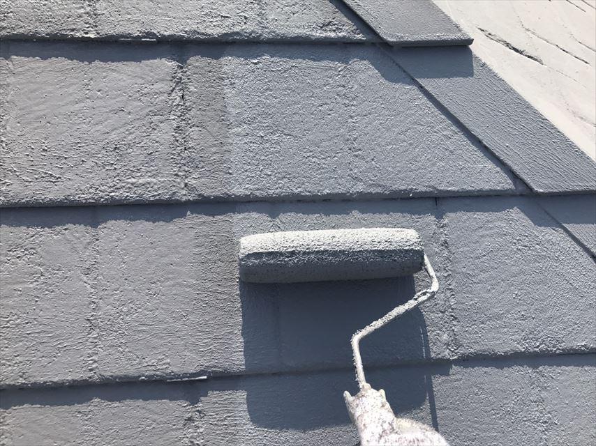 土岐市スレート屋根上塗り