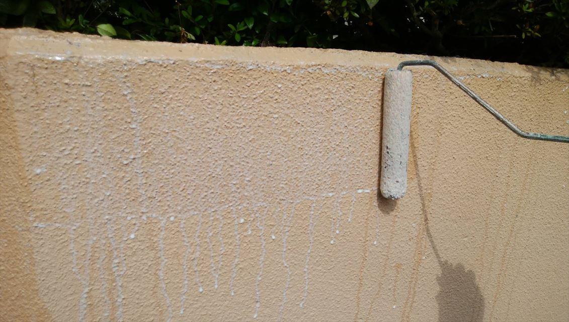 多治見大洞福島塀下塗り