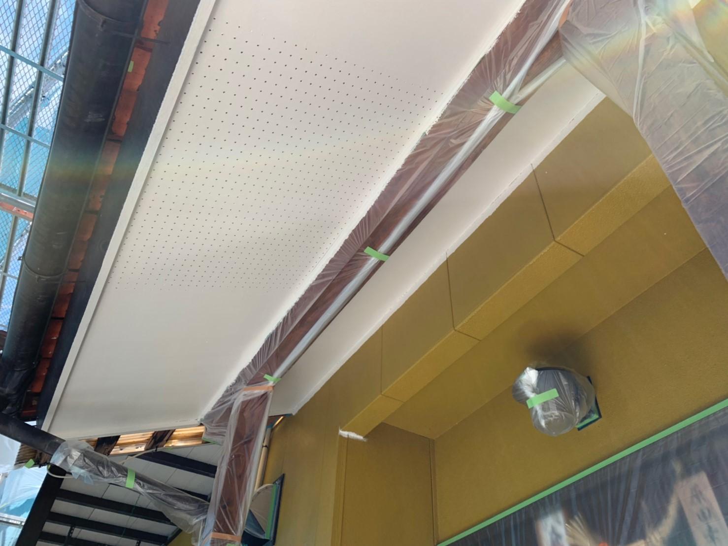 瑞浪市 外壁下塗り塗装 軒天塗装