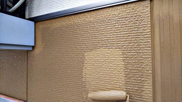 土岐市、外壁の上塗り塗装