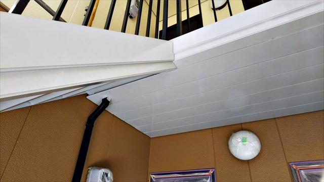 2階アプローチの塗装