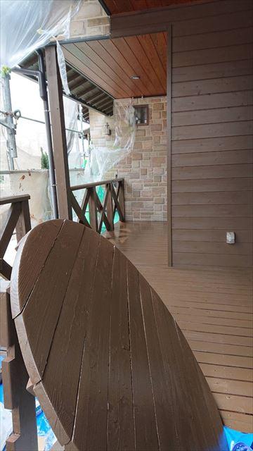 恵那市で外壁塗装 テーブル塗装