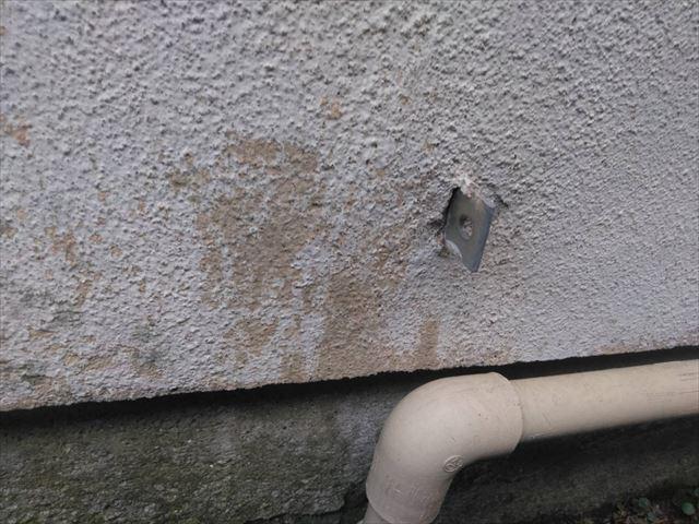 外壁の劣化です