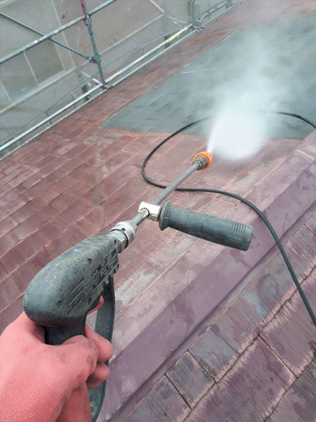 多治見市、屋根の洗浄