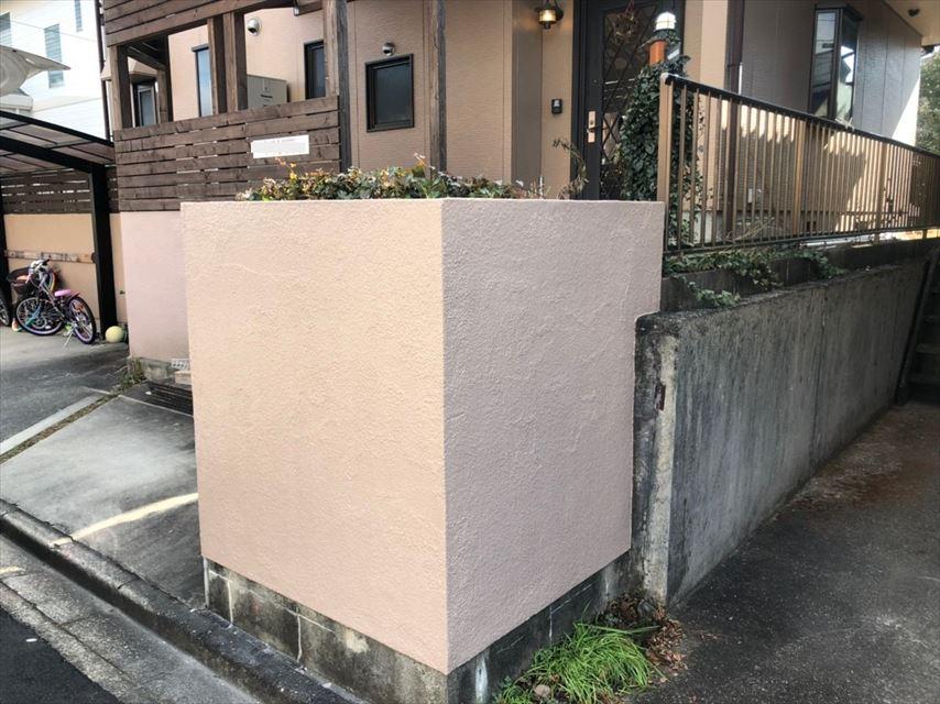 多治見市脇之島町塀塗り替え後