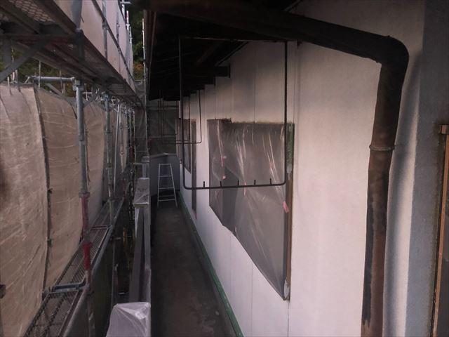 恵那市長島町で外壁下塗りフィラー