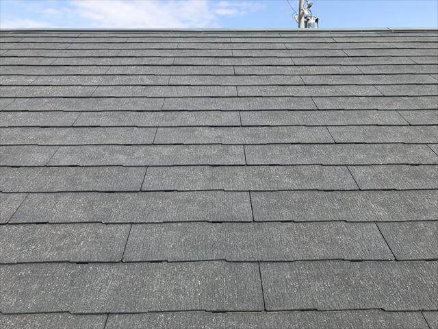 恵那市大井町屋根にタスペーサー取付完了