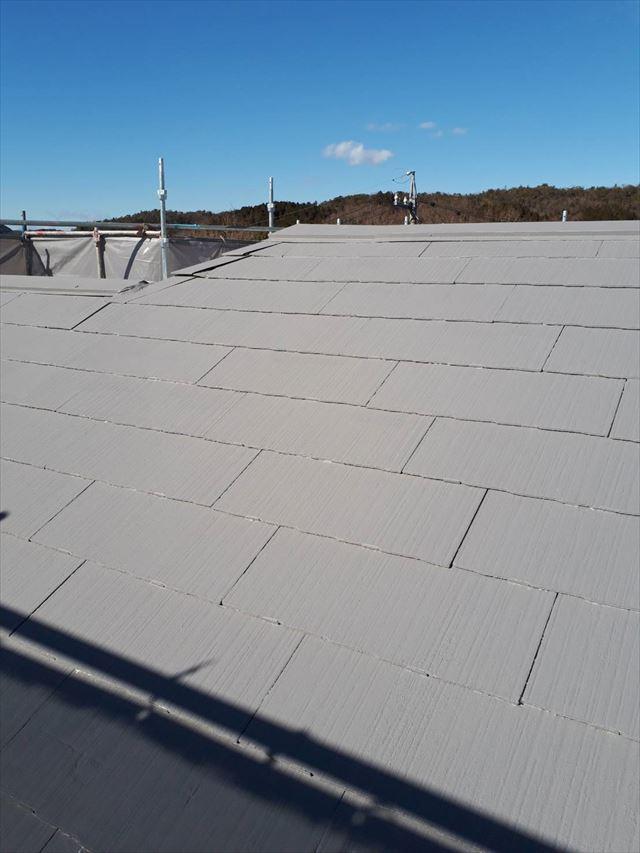 多治見市、屋根の中塗り完了
