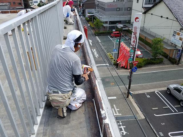可児市屋上のシーリング補修