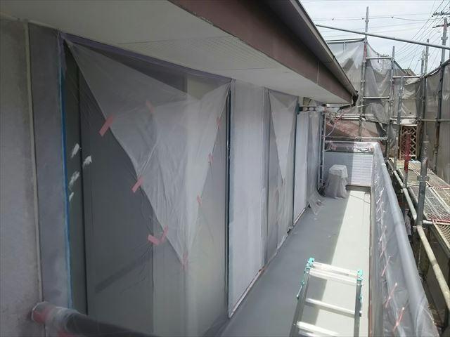 瑞浪市外壁下塗り2回目