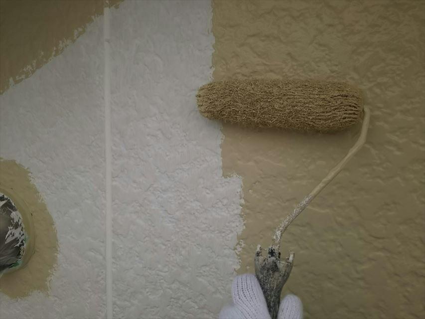 多治見市市之倉町外壁中塗り