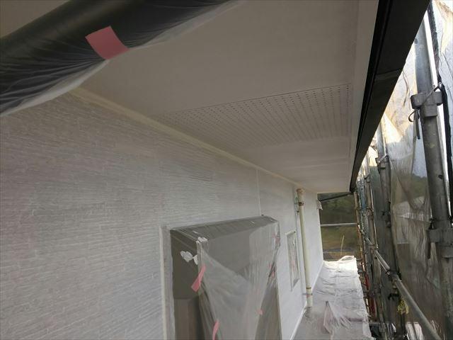 瑞浪市 下塗り塗装完了
