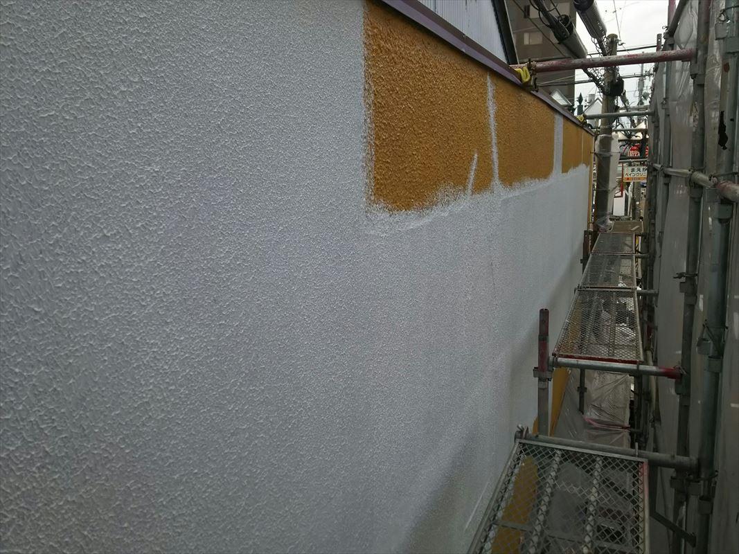 多治見 外壁塗装 ローラーで模様付け 上手 マスチック