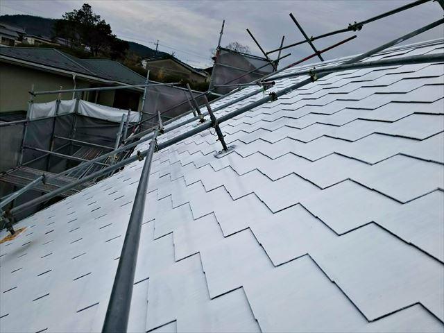 屋根の下塗り2回目完了