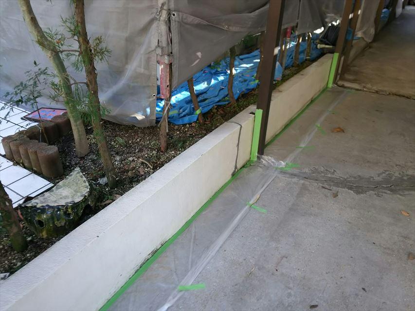 多治見市市之倉町ブロック塀塗り替え