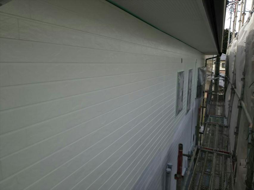 外壁の中塗り、完了