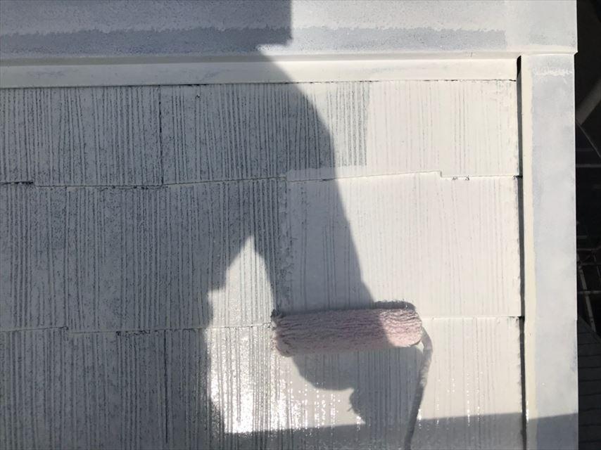 土岐市下石町屋根2回目下塗り