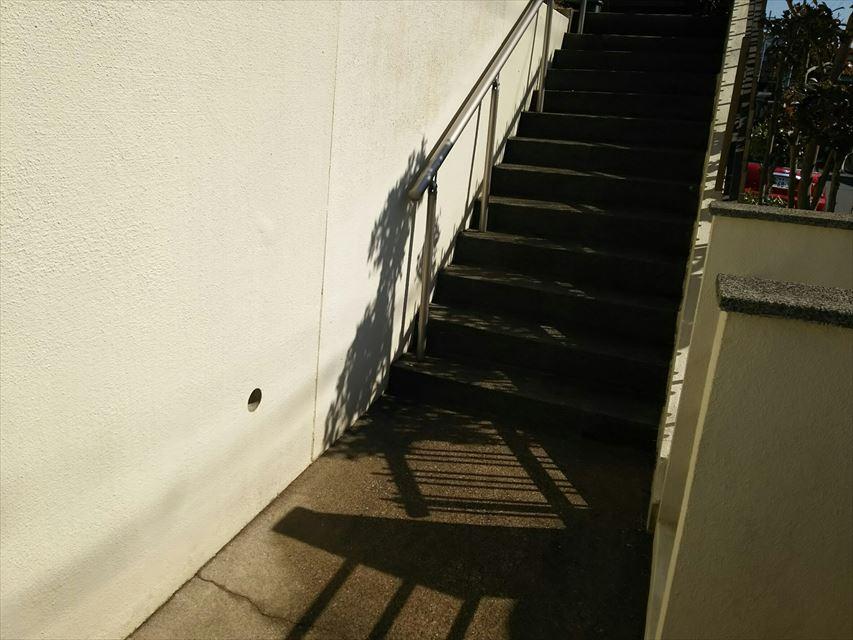 多治見市脇之島町階段高圧洗浄