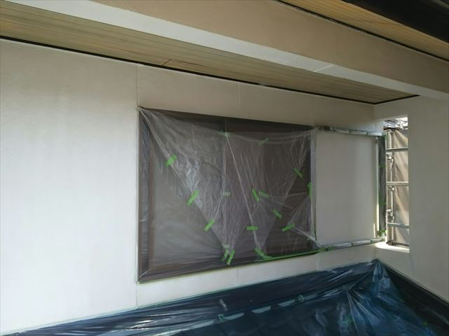外壁の下塗り2回目、完了