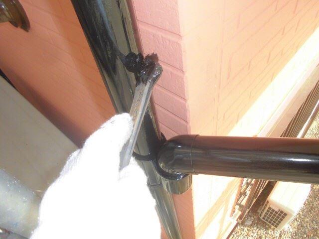 樋の塗装、2回目です