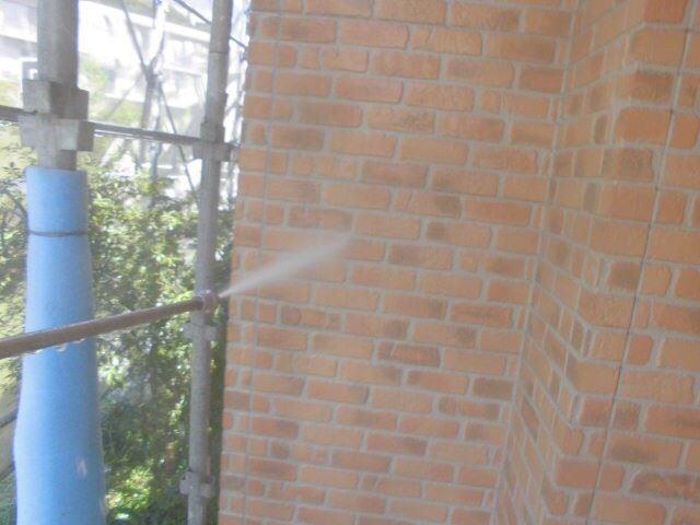 恵那市で外壁塗装 外壁のバイオ高圧洗浄をおこないました