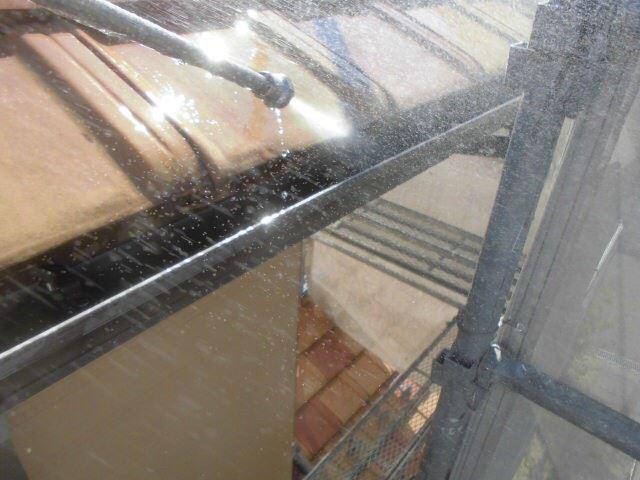 恵那市で外壁塗装 樋の中のバイオ洗浄をおこないました