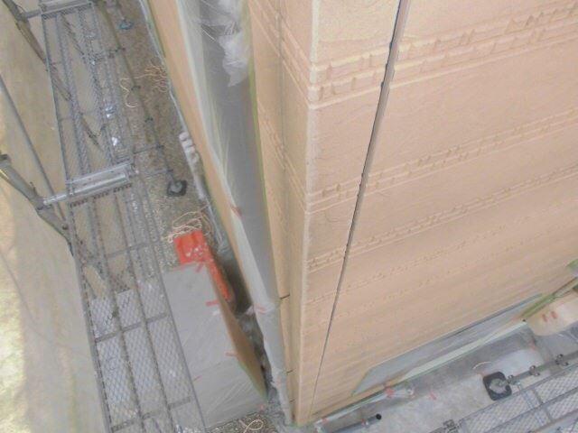 恵那市で外壁塗装 目地打ち替えのため撤去