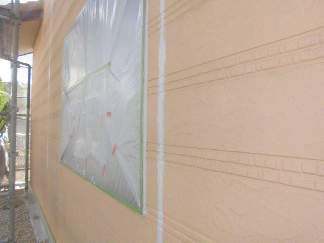恵那市で外壁塗装 目地打ち替え完了