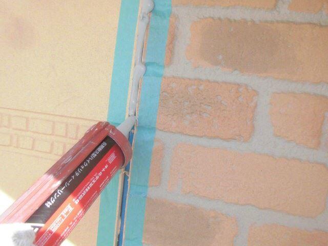 恵那市で外壁塗装 目地打ち替え