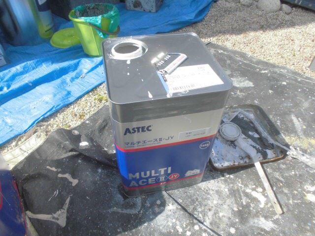 恵那市で外壁塗装 軒天塗装使用塗料缶