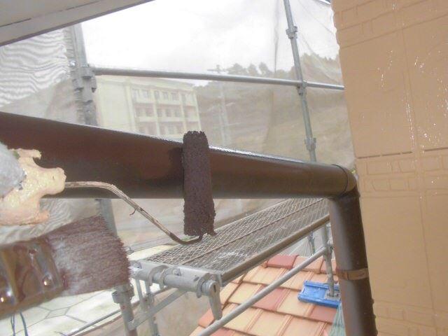 恵那市岩村で外壁塗装 雨樋塗装