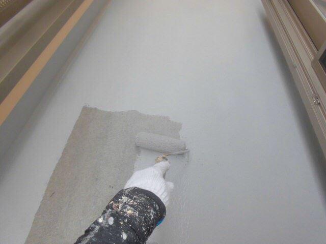 恵那市岩村で外壁塗装 ベランダ塗装L2