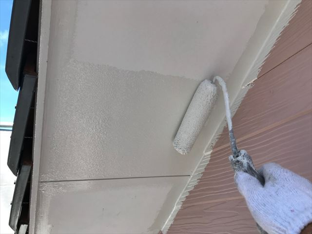 恵那市で外壁塗装、軒天塗装