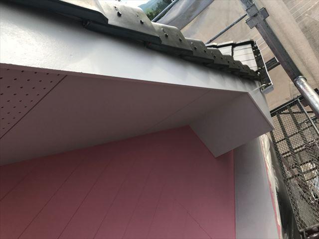 恵那市で外壁塗装破風塗装
