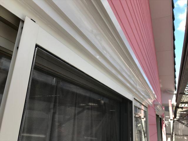 恵那市で外壁塗装シャッターBOX塗装