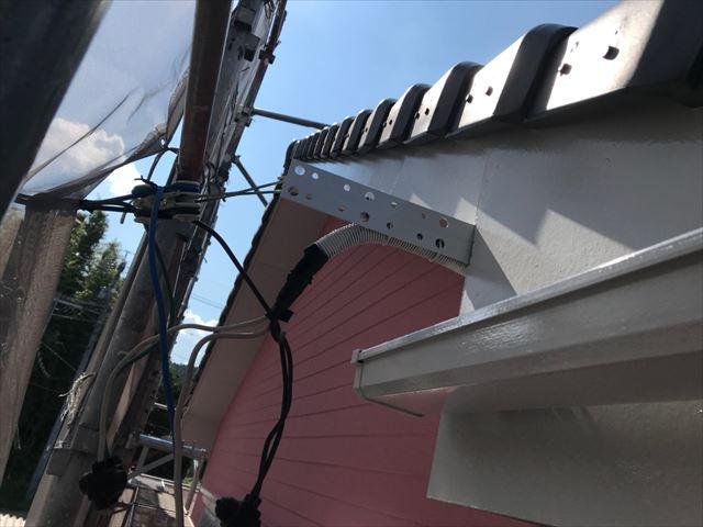 恵那市で外壁塗装破風板塗装