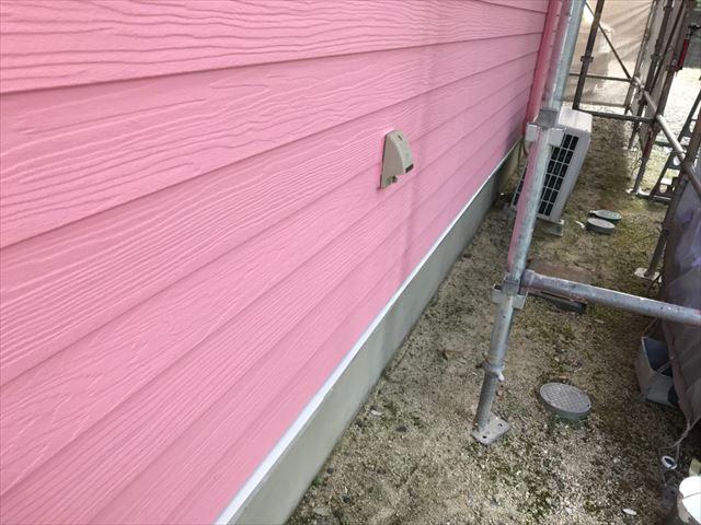 恵那市で外壁塗装水切り塗装